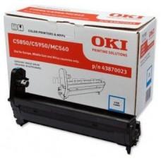 Барабан 43870023 для OKI C5850/ C5950/ MC560, голубой (20000 стр.)