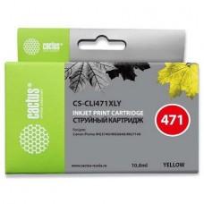 Картридж аналог CLI-471Y XL (0349C001) (CACTUS CS-CLI471XLY) для Canon PIXMA MG5740/ 6840/ 7740, желтый (715 стр.)