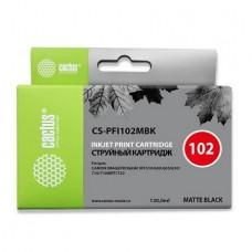 Картридж аналог PFI-102MBk (CACTUS CS-PFI102MBk) для Canon imagePROGRAF iPF500/ iPF600/ iPF605/ iPF610/ iPF700/ iPF710/ iPF720, черный (130 мл.)