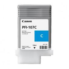 Картридж аналог PFI-107C (6706B001) (Совместимый) для Canon iPF680/ iPF685/ iPF670/ iPF770/ iPF780/ iPF785, голубой (130 мл.)