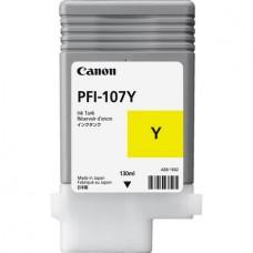 Картридж аналог PFI-107Y (6708B001) (Совместимый) для Canon iPF680/ iPF685/ iPF670/ iPF770/ iPF780/ iPF785, желтый (130 мл.)