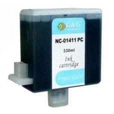 Картридж аналог BCI-1411LC (7578a001 ) (Совместимый) для Canon W7200, голубой (330 мл.)