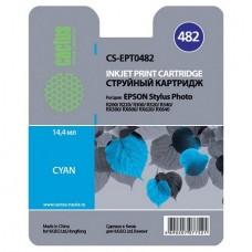 Картридж аналог C13T048240 (CACTUS CS-EPT0482) для Epson Stylus Photo R200/ R220/ R300/ R320/ R340/ RX500/ RX600/ RX620, голубой (430 стр.)