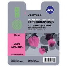 Картридж аналог C13T048640 (CACTUS CS-EPT0486) для Epson Stylus Photo R200/ R220/ R300/ R320/ R340/ RX500/ RX600/ RX620, светло-пурпурный (430 стр.)