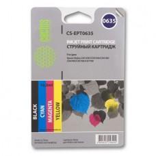 Комплект картриджей аналог C13T06354A (CACTUS CS-EPT0635) для Epson Stylus C67 Photo Edition/ C87/ C87 Photo Edition/ CX3700/ CX4100/ CX4700, цветной (250 стр.)