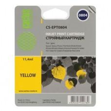 Картридж аналог C13T08044010 (CACTUS CS-EPT0804) для Epson Stylus Photo P50/ PX650/ PX660/ PX700W/ PX710W/ PX720WD/ PX800FW/ PX810FW/ PX820FWD/ R265/ R285/ R360/ RX560/ RX585/ RX685, желтый (520 стр.)