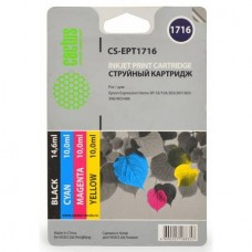 Комплект картриджей аналог C13T17164A10 (CACTUS CS-EPT1716) для Epson Expression Home XP-103/ 203/ 207/ 303/ 306/ 33, черный, цветной (11.5 мл./ 6.5 мл. х3)