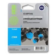 Картридж аналог C13T03424010 (CACTUS CS-EPT342) для Epson Stylus Photo 2100, голубой (15,4 мл.)