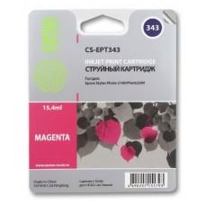 Картридж аналог C13T03434010 (CACTUS CS-EPT343) для Epson Stylus Photo 2100, пурпурный (15,4 мл.)
