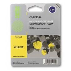 Картридж аналог C13T03444010 (CACTUS CS-EPT344) для Epson Stylus Photo 2100, желтый (15,4 мл.)
