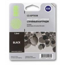 Картридж аналог C13T03814A (CACTUS CS-EPT038) для Epson Stylus C41/ C43/ C45, черный (220 стр.)