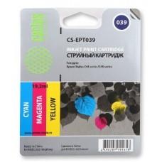 Картридж аналог C13T03904A (CACTUS CS-EPT039) для Epson Stylus C41/ C43/ C45, цветной (180 стр.)