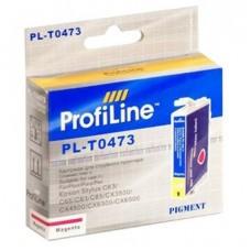 Картридж аналог C13T04734A (ProfiLine PL-047340) для Epson Stylus C63, пурпурный (250 стр.)
