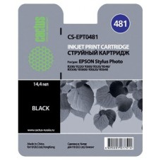 Картридж аналог C13T048140 (CACTUS CS-EPT0481) для Epson Stylus Photo R200/ R220/ R300/ R320/ R340/ RX500/ RX600/ RX620, черный (450 стр.)