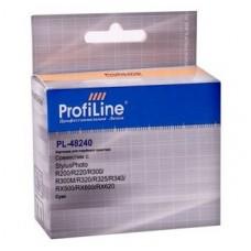 Картридж аналог C13T048240 (ProfiLine PL-48240) для Epson Stylus Photo R200/ R220/ R300/ R300M/ R320/ R325/ R340/ RX500/ RX600/ RX620, голубой (430 стр.)