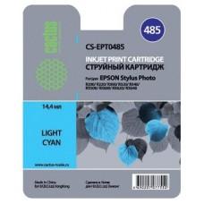 Картридж аналог C13T048540 (CACTUS CS-EPT0485) для Epson Stylus Photo R200/ R220/ R300/ R320/ R340/ RX500/ RX600/ RX620, светло-голубой (430 стр.)