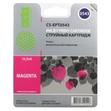 Картридж аналог C13T054340 (CACTUS CS-EPT0543) для Epson Stylus Photo R800/ R1800, пурпурный (400 стр.)