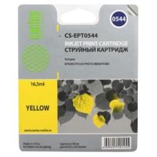 Картридж аналог C13T054440 (CACTUS CS-EPT0544) для Epson Stylus Photo R800/ R1800, желтый (400 стр.)