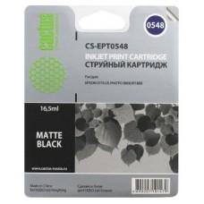 Картридж аналог C13T054840 (CACTUS CS-EPT0548) для Epson Stylus Photo R800/ R1800, матовый черный (400 стр.)
