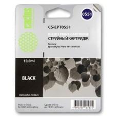Картридж аналог C13T055140 (CACTUS CS-EPT0551) для Epson Stylys Photo R240/ RX520, черный (290 стр.)