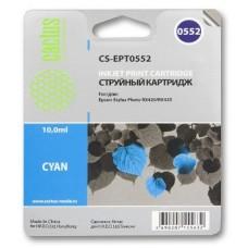 Картридж аналог C13T055240 (CACTUS CS-EPT0552) для Epson Stylys Photo R240/ RX520, голубой (290 стр.)