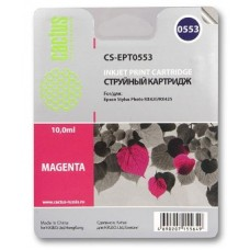 Картридж аналог C13T055340 (CACTUS CS-EPT0553) для Epson Stylys Photo R240/ RX520, пурпурный (290 стр.)