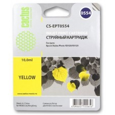 Картридж аналог C13T055440 (CACTUS CS-EPT0554) для Epson Stylys Photo R240/ RX520, желтый (290 стр.)