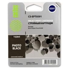 Картридж аналог C13T059140 (CACTUS CS-EPT0591) для Epson Stylus Photo R2400, черный (440 стр.)