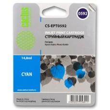 Картридж аналог C13T059240 (CACTUS CS-EPT0592) для Epson Stylus Photo R2400, голубой (440 стр.)