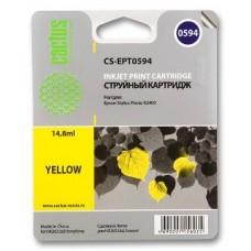 Картридж аналог C13T059440 (CACTUS CS-EPT0594) для Epson Stylus Photo R2400, желтый (440 стр.)