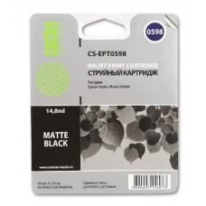 Картридж аналог C13T059840 (CACTUS CS-EPT0598) для Epson Stylus Photo R2400, матовый черный (440 стр.)