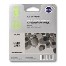 Картридж аналог C13T059940 (CACTUS CS-EPT0599) для Epson Stylus Photo R2400, светло-серый (440 стр.)