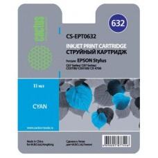 Картридж аналог C13T06324A (CACTUS CS-EPT0632) для Epson Stylus C67 Photo Edition/ C87/ C87 Photo Edition/ CX3700/ CX4100/ CX4700, голубой (250 стр.)