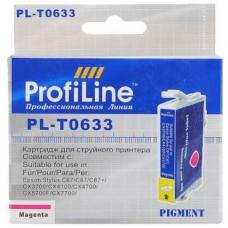 Картридж аналог C13T06334A (ProfiLine PL-0633) для Epson C67/ C87/ CX3700/ CX4100/ CX4700, пурпурный (250 стр.)