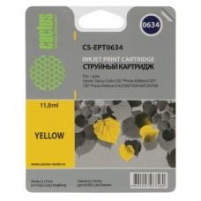 Картридж аналог C13T06344A (CACTUS CS-EPT0634) для Epson Stylus C67 Photo Edition/ C87/ C87 Photo Edition/ CX3700/ CX4100/ CX4700, желтый (250 стр.)
