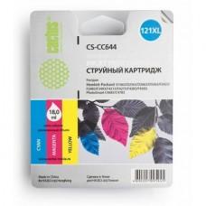 Картридж аналог CC644HE (CACTUS CS-CC644) для HP Deskjet D1663/ D2500/ D2563/ D2663/ D5563/ F2423/ F2493/ F4213/ F4275/ F4280/ F4283/ F4583/ HP Photosmart C4683/ C4783, цветной (440 стр.)