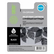 Картридж аналог C2P23AE (№934XL) (CACTUS CS-C2P23AE) для HP Officejet Pro 6230/ 6830 e-All-in-One, черный (1000 стр.)