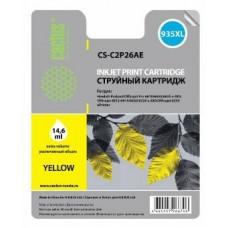 Картридж аналог C2P26AE (№935XL) (CACTUS CS-C2P26AE) для HP Officejet Pro 6230/ 6830 e-All-in-One, желтый (825 стр.)