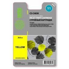 Картридж аналог C4838A (№11) (CACTUS CS-C4838) для HP Business Inkjet 1000/ 1100/ 1200/ 2200/ 2230/ 2250/ 2280/ 2300/ 2600/ 2800, Color Inkjet CP 1700, Officejet 9110/ 9120/ 9130, желтый (1750 стр.)