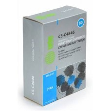 Картридж аналог C4846A (№80) (CACTUS CS-C4846) для HP DesignJet 1050C/ 1050C Plus/ 1055CM/ 1055CM Plus, голубой (4400 стр.)