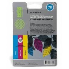 Картридж аналог (CMY) C6578A XL (№78) (CACTUS CS-C6578A) для HP DeskJet 916c/ 920c/ 930c/ 930cm/ 940c/ 950c/ 959c/ 960c/ 970c/ 980c/ 990c/ 995c/ 1180c/ 1220/ 1280/ 3810/ 3816/ 3820/ 3822/ 6122/ 6127/ 9300, OfficeJet 5110/ V30/ V40/ V45/ G55/ G85/ G95/ K60