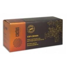 Картридж аналог CB540A (CACTUS PREMIUM CSP-CB540A) для HP Color LaserJet  CP1215/ 1515/ CM1312, чёрный (2500 стр.)