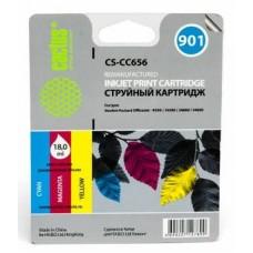 Картридж аналог (CMY) CC656A (№901) (CACTUS CS-CC656) для HP OfficeJet J4524/ J4580/ J4624/ J4680, цветной (360 стр.)