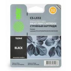 Картридж аналог 18C0032E (№32) (CACTUS CS-LX32) для Lexmark Z815/ Z816/ Z818/ P915/ P4350/ P6250/ P6350/ X3330/ X3350/ X5250/ X5270/ X5470/ X7170/ X7350/ X8350, черный (200 стр.)