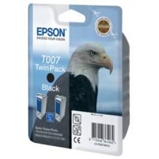 Картридж (двойной) C13T007402 для Epson Stylus Photo 790/ 870/ 915/ 890/ 895/ 900/ 1270/ 1290/ 1290S, черный (540 стр. х2)