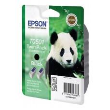Картридж C13T050142 для Epson Stylus Color 400/ 440/ 460/ 500/ 600/ 640/ 660/ 670, Photo/ EX/ 700/ 750/ 1200, черный (540 стр. 2 шт.)