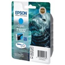 Картридж C13T10324A10 для Epson Stylus Office T1100/ T30/ T40W/ TX510FN/ TX600FW, Stylus TX550W, голубой (975 стр.)