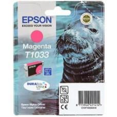 Картридж C13T10334A10 для Epson Stylus Office T1100/ T30/ T40W/ TX510FN/ TX600FW, Stylus TX550W, пурпурный (625 стр.)