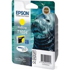 Картридж C13T10344A10 для Epson Stylus Office T1100/ T30/ T40W/ TX510FN/ TX600FW, Stylus TX550W, желтый (910 стр.)