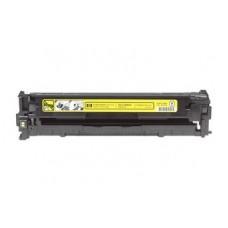 Картридж CB542A (Заправка картриджа + чип) для принтеров HP CLJ CP1215/ CP1515N/ CP1518Ni, желтый (1400 стр.)
